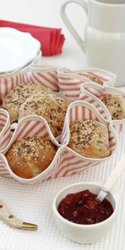 Sydd brödkorg med bullar