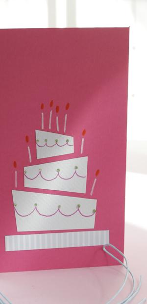 Kort med bröllopstårta